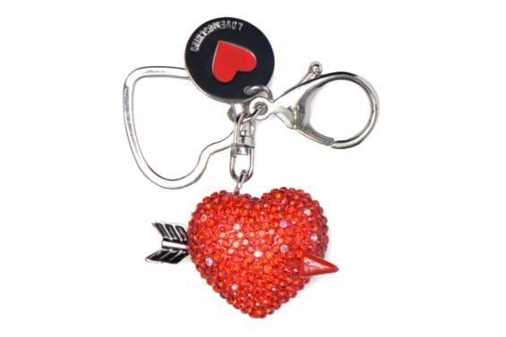 Muut/sekalaiset Keyholders Heart Love Moschino 3/4-näkymä