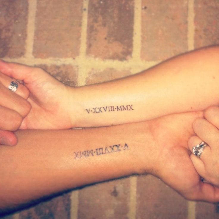 Emejing Wedding Date Tattoos Designs Photos Style And Ideas