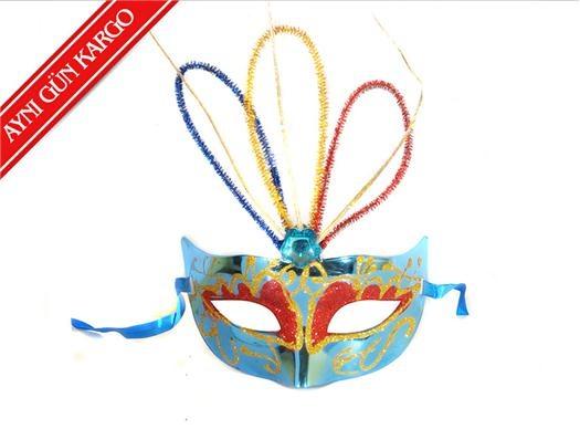 Yılbaşına Özel Venedik Maskesi-Mavi -  - Yılbaşı Ürünleri - 6,99 TL | markapella