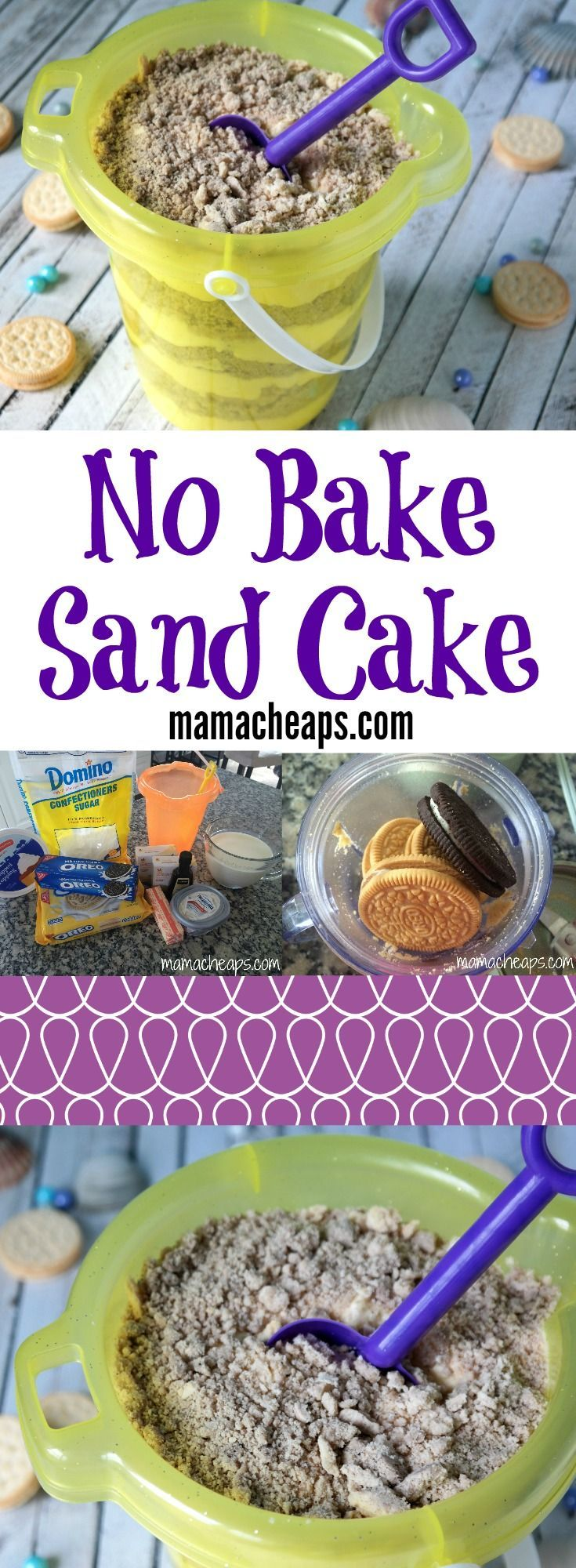 No Bake Sand Cake - simple, tasty and OH SO CUTE!