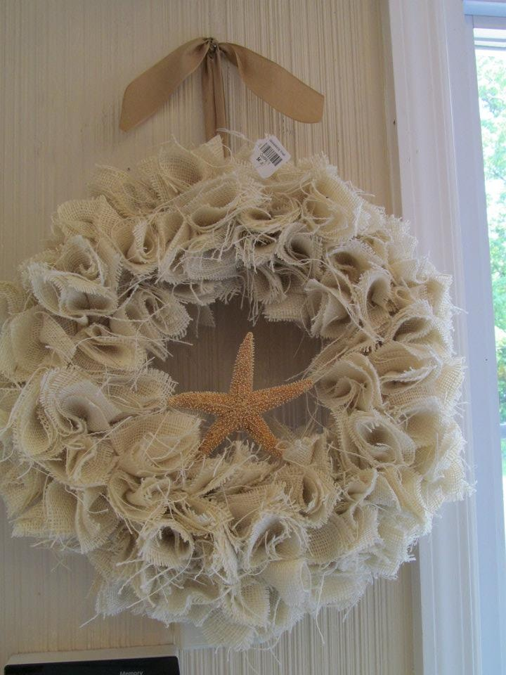 Burlap Wreath Being Sold At A Lovely Shop In Hightstown