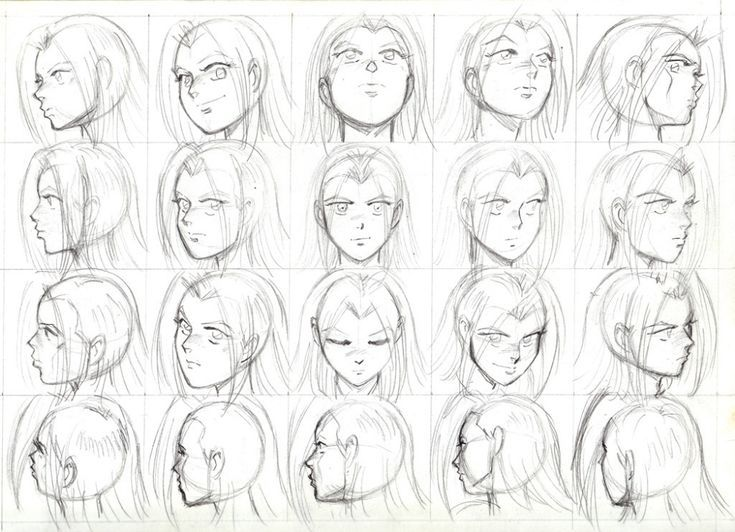 Anime Face Angle Chart Google Search Character Design Graphic Novel Art Drawings