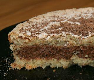 Marias Salt og Søtt: Marengskake med Mandler og Sjokolade (Almond and Chocolate Meringue)