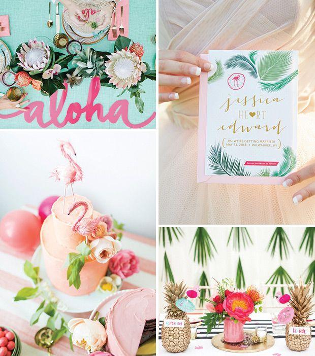 Tropical popical Wedding Decor   A Hot Trend for 2016 Weddings!   www.onefabday.com