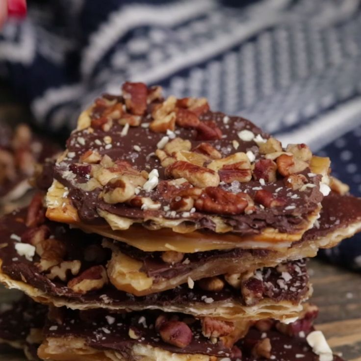 """Nutty chocolate-covered matzo """"crack"""" is a ridiculously yummy sweet snack."""