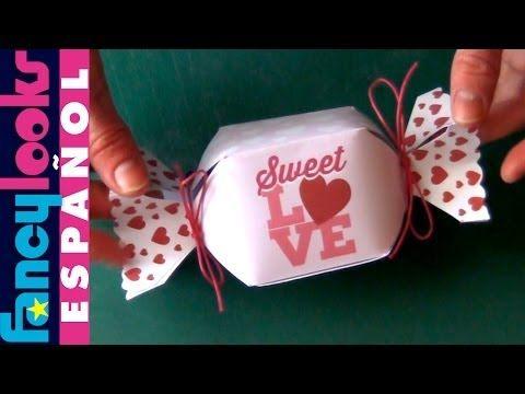 Caja en forma de caramelo hecha a mano (Descarga diseño) - YouTube