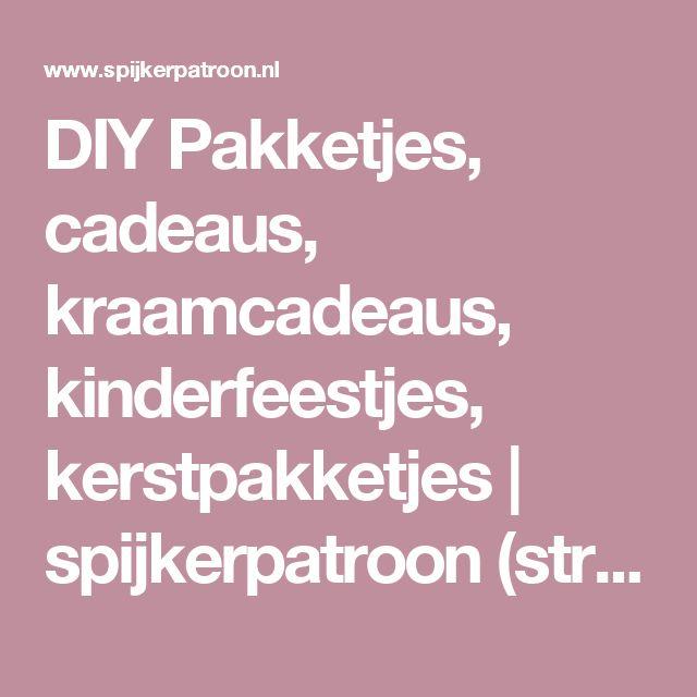 DIY Pakketjes, cadeaus, kraamcadeaus, kinderfeestjes, kerstpakketjes   spijkerpatroon (string art)
