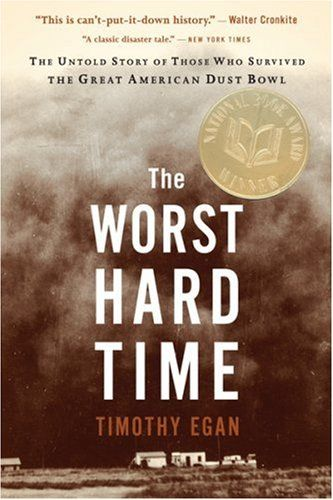 The Worst Hard Time by Timothy Egan - Presents an oral history of the dust storms that devastated the Great Plains during the Depression, following several families and their communities in their struggle to persevere despite the devastation. Recommended by: Pam Martin, Head of Programming