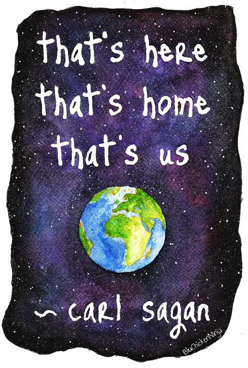 That's here, that's home, that's us. Pale blue dot