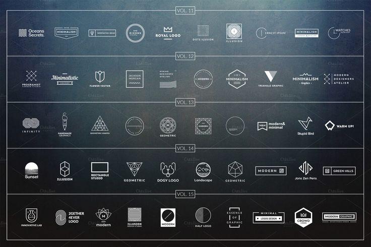 200 Minimalistic Logos - All Volumes by Piotr Łapa on @creativemarket