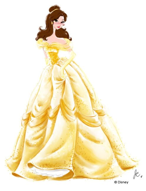 Disney Princess Watercolors by Jenny Chung, via Behance