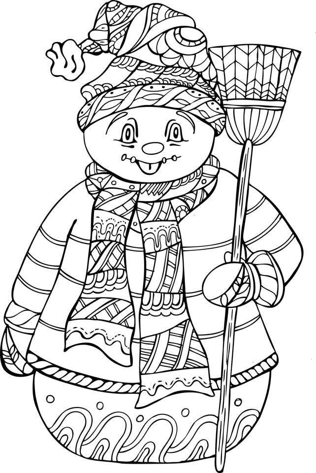 Christmas Gifts For Women Art Adult Coloring Pages Books Snowman Party Games Mandala Snowmen