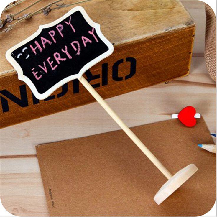 10 יח'\חבילה הודעות מעץ מיני Blackboard לוח וגיר לוח שחור קטן אנכי Kawaii מותג חדש מסיבת חתונת דקור Festa