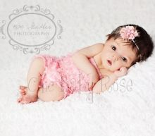 Chic Baby Rose newborn petti rompers. Great photo prop - handmade in the USA!