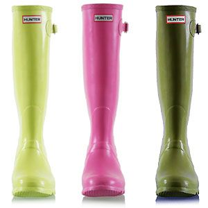 Hunter Wellies. A must have in every men's and women's closet. in any colour or finish.