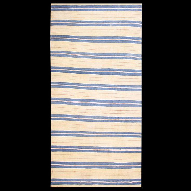 Dhurrie Rug - 21337 | Indian 6' 6'' x 13' 4'' | Ivory, Origin India, Circa: 1930#antique #rug #studio #nyc #dhurrie
