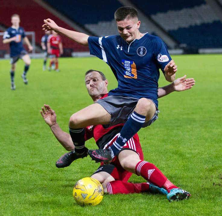 Queen's Park's Ewan MacPherson in action during the Scottish Cup round 4 replay between Queen's Park and Ayr United.