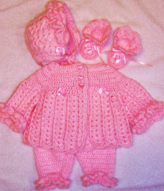 Crochet Pattern Baby Layette Sets Dancox
