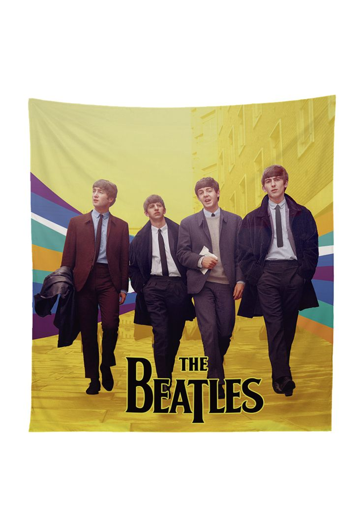 Tapestry Beatles pop Xpodisain shop: Este tapestry esta hecho de tela sublimada con tintas ecológicas. Es el accesorio ideal para tu habitación. Utilízalo para adornar tu pared, incluso para llevarlo a la playa o como manta de picnic. 100% poliéster.Color, multicolor.Tamaño, 130 x 150 cm.Hecho en Viña del Mar, Chile.