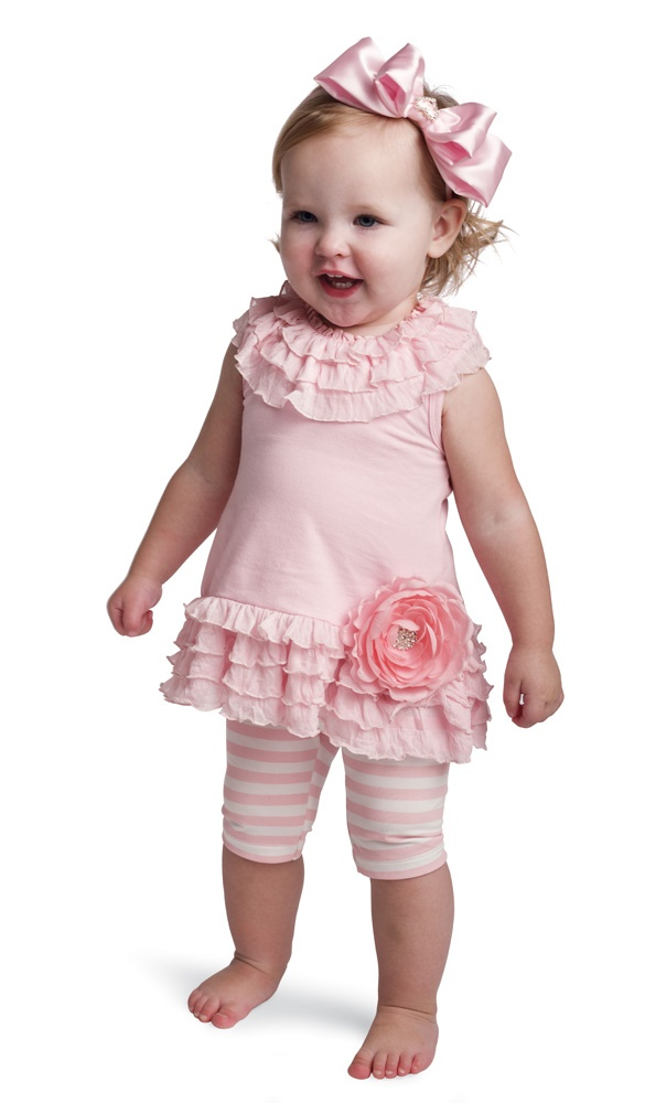 Mud Pie Baby Buds Dress and Shorties Set