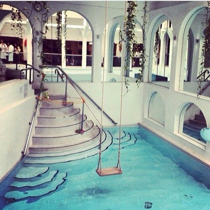 a swing over your indoor pool i want one a swing over my pool in my dream house