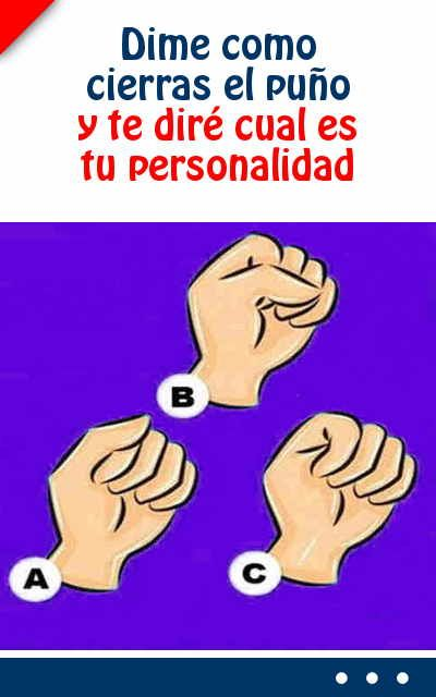 Dime como cierras el #puño y te diré cual es tu #personalidad #psicología #humano #curiosidades