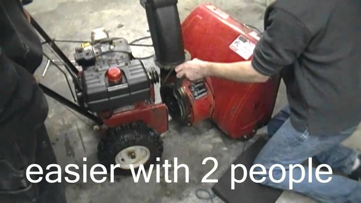How to change or replace your belts on your two stage mtd snowblower (Th...
