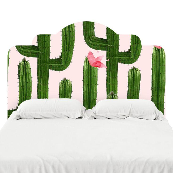 Happy Cacti Headboard Decal