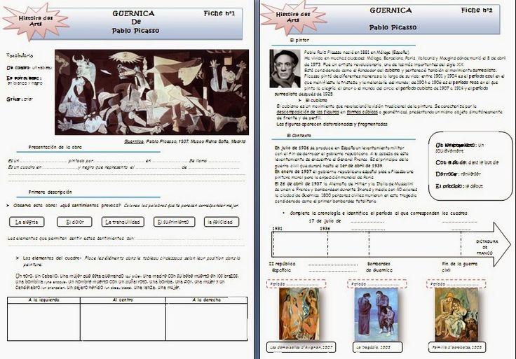 Les quichotteries de Delphine: HDA Fiche de travail sur Guernica