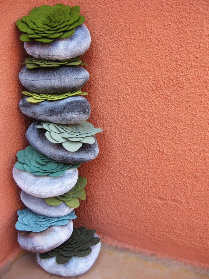 stacked succulent stones | rocks and things | Pinterest ...