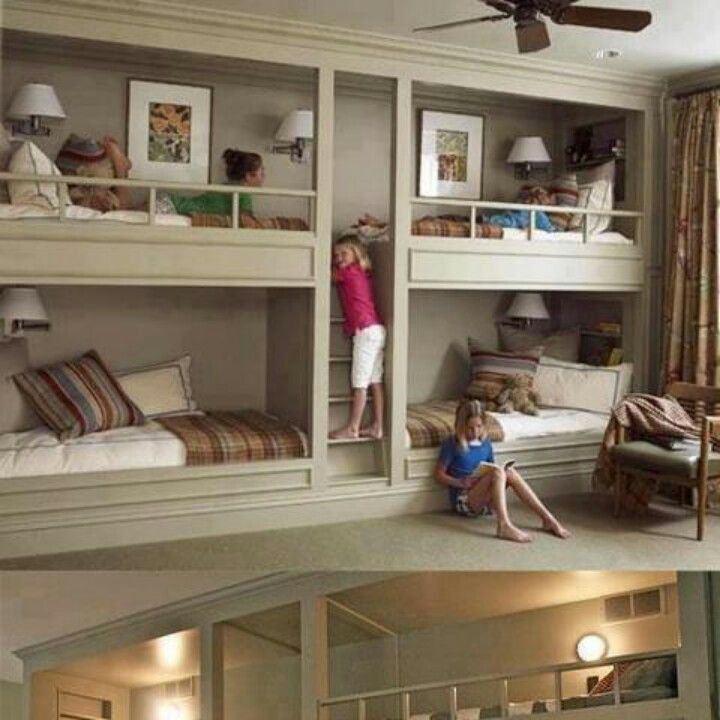 Bunk Bed Room!!! Even now, I want this.