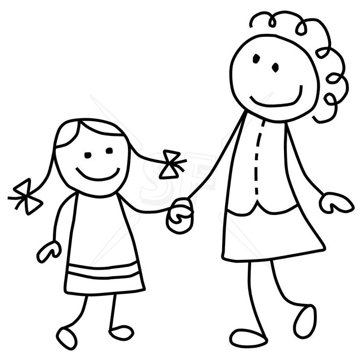 Mommy And Me Clipart