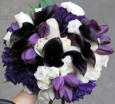 purple bouquet flowers