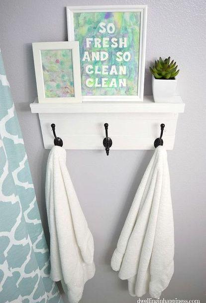 light bright guest bathroom reveal, bathroom ideas, diy, home decor, painting, small bathroom ideas