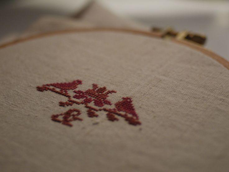 You & me :) love, bird, cross stitch