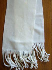 Curly Fringe, No-Sew Fleece Scarf Tutorial