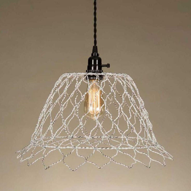 Pre Order Romantic Country Shabby Wire Pendant Lamp