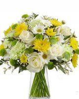 bíložlutá kytice - květiny online