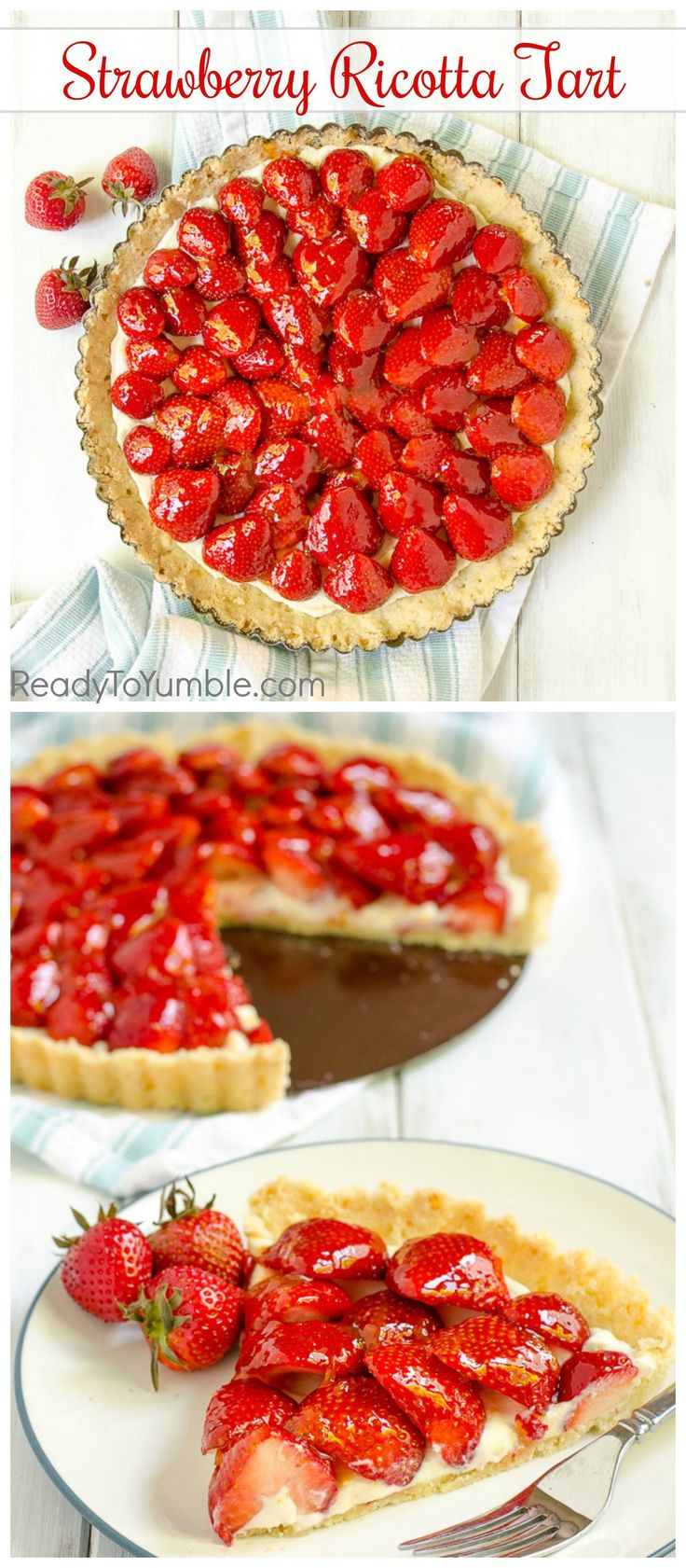 strawberry ricotta tart summer desserts shortbread crust ricotta to ...