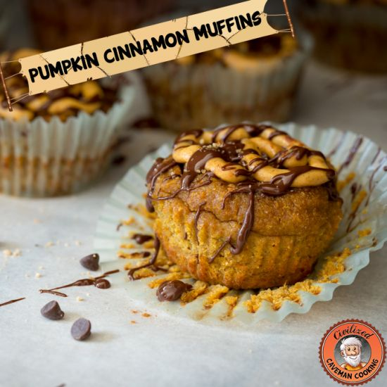 Pumpkin Cinnamon Muffins | Civilized Caveman CookingCaveman Cooking, Paleo Pumpkin, Pumpkin Cinnamon, Gluten Free, Cinnamon Muffins, Pumpkin Frostings, Coconut Flour, Civil Caveman, Civilized Caveman