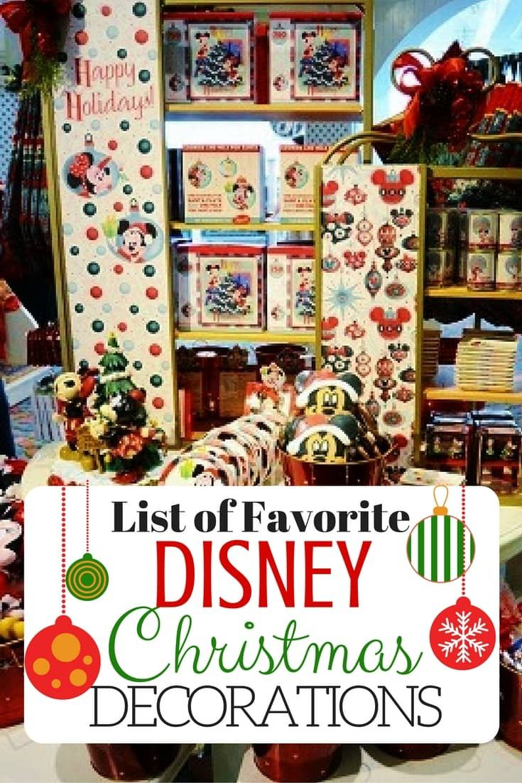 Disney christmas decorations for home - Bring A Little Disney Magic Back From The Parks By Adding Disney Christmas Decorations In Your