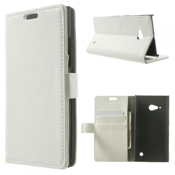 Vitt plånboksfodral till Nokia Lumia 735. Köp snygga fodral idag via länken: http://www.phonelife.se/mobilfodral