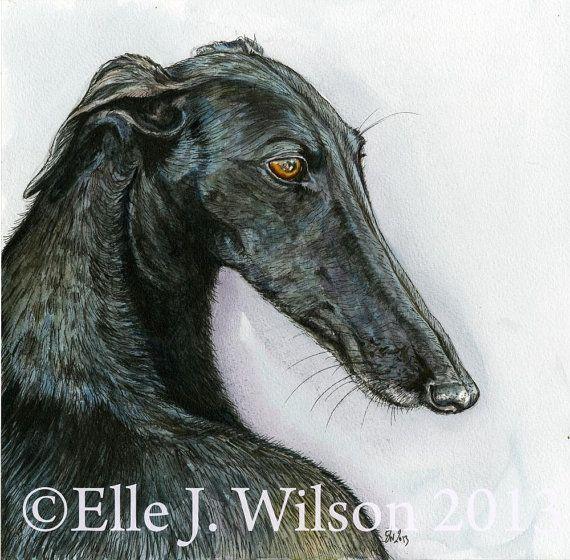 Bedoeld om te worden met u-Greyhound kunst hond door AlmostAnAngel66