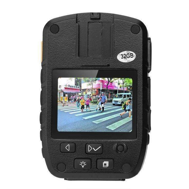 Body Worn Camera IP66 1080p 2 Inch Display 140 Degree Lens 3000mAh Night Vision 32GB Storage 16X Dig