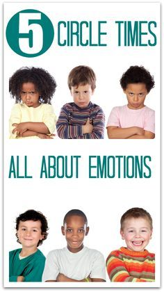 Circle time lessons about emotions for preschool. FREE printables included.