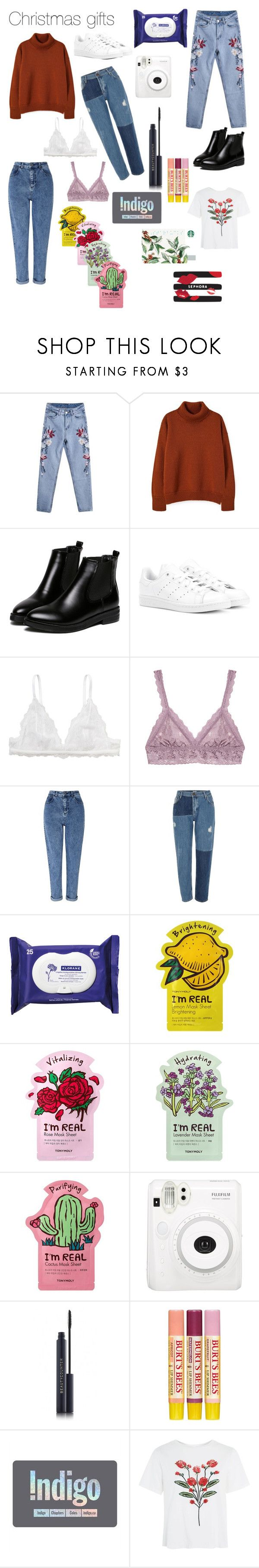 """""""Christmas Gifts"""" by watsonsam on Polyvore featuring WithChic, adidas Originals, Monki, Hanky Panky, Miss Selfridge, River Island, Klorane, TONYMOLY, Burt's Bees and Sephora Collection"""