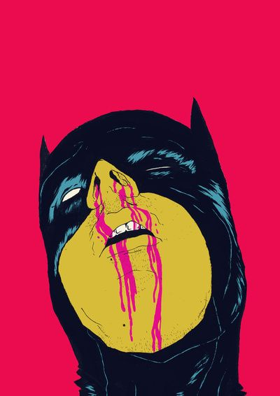 Pretty violent, but I like the pop colors. It would look great in my office :D #batman