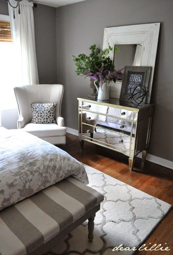 We love the addition of the metal sphere from  homegoods to our guest  bedroom. Best 25  Mirrored bedroom furniture ideas on Pinterest   Neutral
