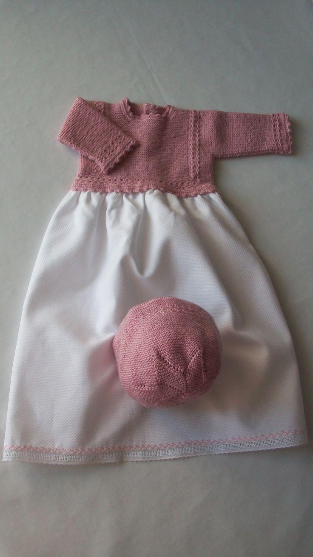Conjunto faldón y capota rosa