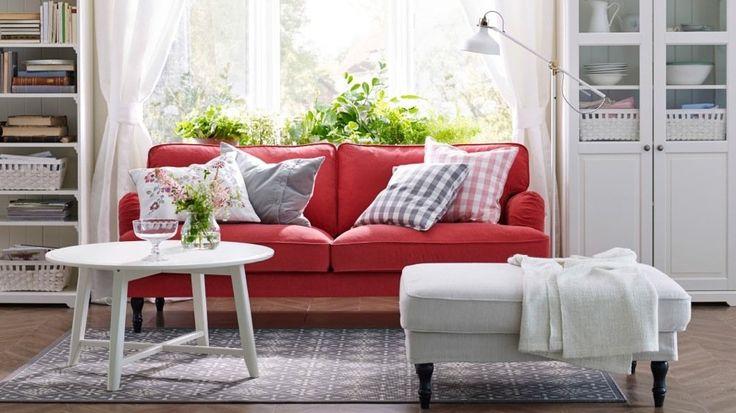 canapé rouge tissu ikea                                                                                                                                                     Plus